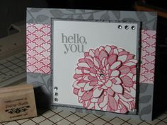 SUO- Dahlias in Strawberry and Slate by dmo - Cards and Paper Crafts at Splitcoaststampers