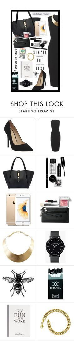 """Work"" by abbeynewberry ❤ liked on Polyvore featuring Office, Victoria Beckham, Bobbi Brown Cosmetics, GUESS, The Horse, Selfridges, Kevin Jewelers, women's clothing, women and female"