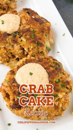 Good crab cakes are light and delicate, not dense. These are made with a lot of crab, with just enough other ingredients to help hold them together. The Crab Cake Sauce, which is a creamy Cajun sauce… Spicy Chicken Recipes, Cajun Recipes, Seafood Recipes, Seafood Appetizers, Appetizer Recipes, Etouffee Recipe, Crab Cake Recipes, Creole Recipes, Crab Cakes