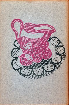 Edward Bawden linocut design back cover Good Sweets by Ambrose Heath