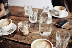 (1) Tumblr - Sunday morning.... Water + Coffee