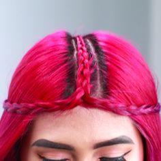 Braided Middle Part Headband
