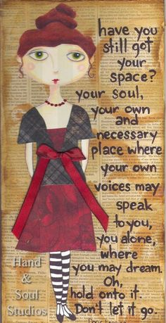 Items similar to Little Ladies, Big Thoughts Mixed Media series - Anna Lyn on Etsy Altered Books, Your Soul, Art Journal Pages, Art Journaling, Art Journal Inspiration, Belle Photo, Beautiful Words, Mixed Media Art, Frases