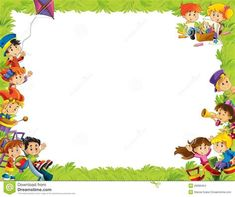 School Border, Kindergarten Portfolio, School Forms, Boarders And Frames, Boarder Designs, Certificate Design Template, Classroom Board, Kids Background, Background Powerpoint