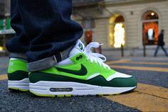 "Nike Air Max 1 ""White/Gorge Green - Light Green"""