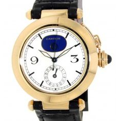 PASHA MOONPHASE 30001 IN 18KT YELLOW GOLD, 38MM Moon Phases, Cartier, Chronograph, Watches, Yellow, Gold, Accessories, Clocks, Clock