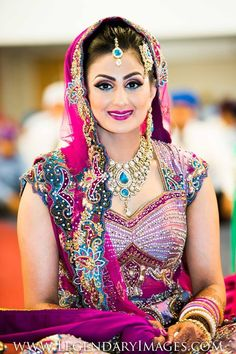 Stunning Indian Bride  Pink and Teal