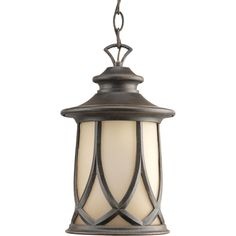 Shop Progress Lighting Resort 14.12-in Aged Copper Outdoor Pendant Light at Lowes.com