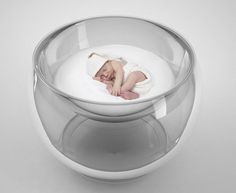 There was a short stunned silence when I first laid my eyes upon this far from conventional baby bed. And then I had three words to describe it – one being weird and the others being utterly amazing. The Bubble Bed by Lana Agiyan has