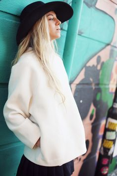 the perfect white sweater
