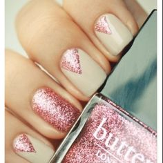 Pink glitter nail ideas