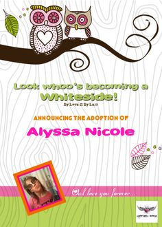 I created this adoption announcement & adoption party invite for the adoption finalization of my 12 yo daughter from domestic foster care. fostercare older child gotcha