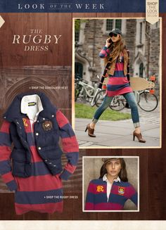 Rugby dress and schoolboy vest Rugby Ralph Lauren