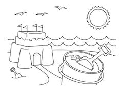Image result for seaside colouring pages