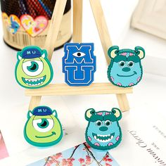 3 Pcs Kawaii Monsters Paper Clip PVC Binder Clips De papel Creative Clothespins Paperclips Cute Korean Stationery Escolar 8611 #Affiliate