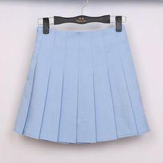 6 Color Large Size Japanese School Uniform Skirts 2018 High Waist Denim Pleated Skirts Harajuku Girls A-line Mini Sailor Skirt School Uniform Skirts, Japanese School Uniform, School Skirts, Harajuku, Pleaded Skirt, Pleated Tennis Skirt, Pleated Skirt Outfit Short, Bleu Pastel, Skirt Fashion