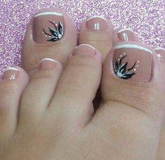 Uñas decoradas Pies #Piesbonitosideasyarte Cute Pedicure Designs, Toe Nail Designs, Pretty Toe Nails, Cute Toe Nails, Pedicure Nail Art, Toe Nail Art, Jamberry Nails Consultant, Feet Nail Design, Summer Toe Nails