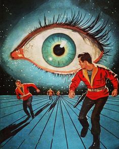 It's his birthday, so I'm posting Ed Valigursky's work all day! Here's his trippy cover art for Philip K. Dick's 'Eye in the Sky' Arte Sci Fi, Sci Fi Art, Fantasy Kunst, Fantasy Art, Cover Art, Books Art, Sci Fi Kunst, Science Fiction Kunst, Psy Art