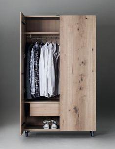 Wooden wardrobe by Janua design Christian Seisenberger Wooden Closet, Wooden Wardrobe, Wardrobe Furniture, Wardrobe Cabinets, Wardrobe Design, Wardrobe Closet, Wood Furniture, Furniture Design, Clothes Drawer Organization