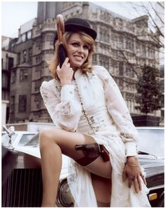 Joanna Lumley as Purdey in 'The New Avengers' 1972