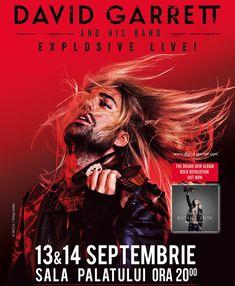 """Concertele artistului David Garrett din cadrul turneului """"Explosive Live"""", reprogramate pentru luna septembrie"""