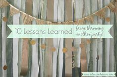 10 Lessons Learned f