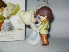 2008 Hallmark Disney Precious Moments Cinderella and Her Prince Ornament