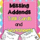 Missing Addends - Be A Detective - Equality of Equations  This missing addends resource has 24 missing addends task cards with QR codes for student...
