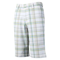 PGM Authentic mens plaid golf shorts trousers fitted golf apparel flat Front Slim Fit sport quick dry golf short wicking clothes