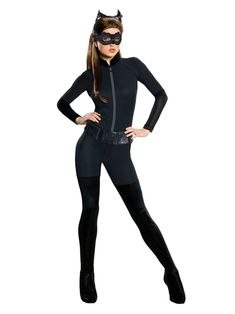 DC Comics The Catwoman Uniform halloween costume outfit ALLOVER 2 Side T-shirt