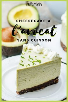 New cheese cake recette avocat Ideas Avocado Cheesecake, Healthy Cheesecake, Easy Cheesecake Recipes, Pumpkin Cheesecake, Cheese Cake Filling, Crepes Filling, Cake Filling Recipes, Cake Fillings, Cheese Appetizers