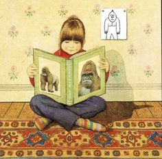 "Anthony Browne, illustration from ""Gorilla"""