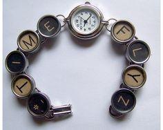 Time Flyz Vintage Typewriter Key Watch Bracelet