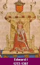 King Edward I Longshanks : 1306 - Robert Bruce is crowned King of Scotland