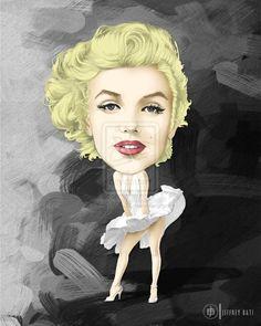 Marilyn Monroe by on DeviantArt Marilyn Monroe Pop Art, Caricatures, Art Boards, Art Art, My Girl, Deviantart, Eye, Disney Characters, Drawings