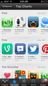 Vine Swings To The Top Of Social In App Store, Claims 14th Spot In Free Apps