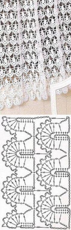 Crochet Chart, Crochet Basics, Crochet Motif, Crochet Stitches, Knit Crochet, Crochet Curtains, Crochet Fabric, Lace Curtains, Knitting Patterns
