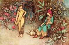You would adorn the palace of the mightiest sovereign - Warwick Goble, Folk-tales of Bengal