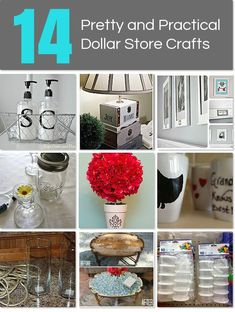 14 Pretty and Practical Dollar Store Crafts