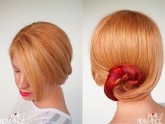 Hair Romance - how to wear your hair to a wedding - curve braid bun hairstyle tutorial