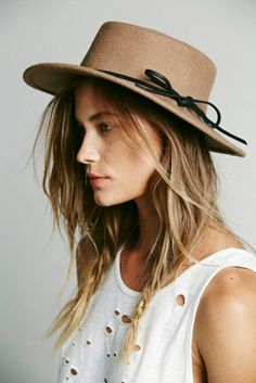Free People Womens Jinx Flat Top Floppy Hat