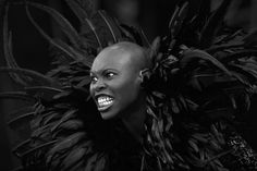 Skin from Skunk Anansie. I haven't heard of this band, but this compelling photo makes me want to check them out!