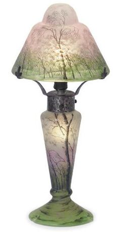 Daum Nancy lamps are some of the most unusual and attractive lamps of the art nouveau period.