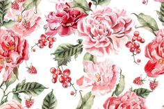 Beautiful watercolor flowers By Knopazyzy shop