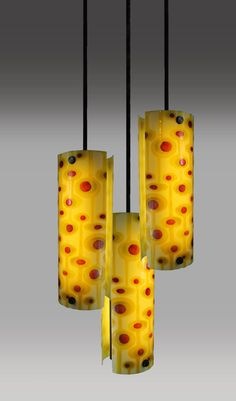 Contemporary Handmade Fused Glass Chandelier with by PasserGlassCo, $199.00