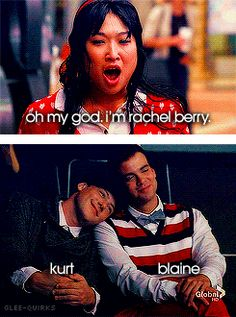 Isn't it kind of weird that when Puck and Finn are Kurt and Blaine that they are really close to each other. But when Kurt and Blaine are themselves... their apart