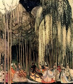 """Twelve Princesses on the Way to the Dance"" illustration by Kay Nielsen for 'The Twelve Dancing Princesses'"