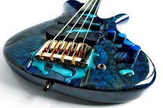 Janaid Guitars (via Bass Players United Guitar Painting, Guitar Art, Music Guitar, Cool Guitar, Custom Bass Guitar, Custom Guitars, All About That Bass, Music Machine, Musical Instruments