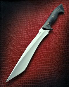 Combat Kopis by Jerry Hossom Knives Cool Knives, Knives And Tools, Knives And Swords, Survival Weapons, Survival Knife, Survival Gear, Zombie Weapons, Bushcraft, By Any Means Necessary