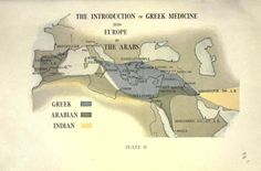 Plate II. The introduction of Greek medicine into Europe by the Arabs. The Oxford Medicine - Advance pages. 1918.